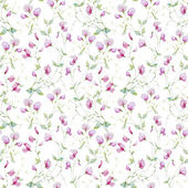Beautiful vector pattern with nice watercolor flowers