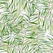 Akvarel, tropické listy vzor