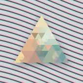 Hipster triangle background with stereo effect vintage poster