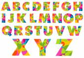 Creative vector illustration with alphabet letters logo in different styles and colors