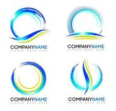 Water Splash Logo Vector design logos with water splash concepts and swashes
