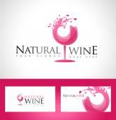 Vinné sklo Logo design