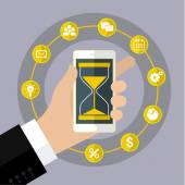 Flat design vector business illustration Concept of effective time management