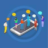 Konzept des Chats, und Nachrichten Kommunikation