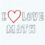 Постер, плакат: Doodle text i love math