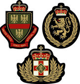 Set of  classic heraldic royal emblem badge shield