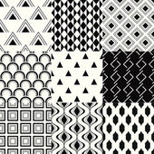 Set of 9 elegant seamless patterns