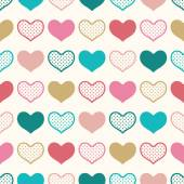 Seamless color heart pattern vector illustration