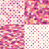 Seamless shiny pink multicolor geometric pattern vector illustration