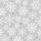 Seamless christmas snowflakes pattern holiday background