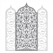 Arabic architectural illustration with arch