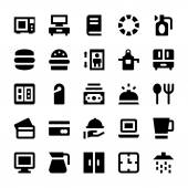 Hotelleistungen Vector Icons 3