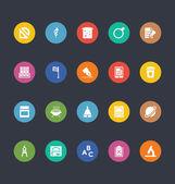 Glyfy barevné vektorové ikony 38