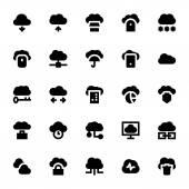 Cloud Data Technology Vector Icons for your personal files entertainment work music movies and more Storage is now in the cloud so use these cloud computing vectors for all your projects