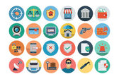 A set of security flat colored icons