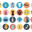 Постер, плакат: Fashion Flat Icons 3