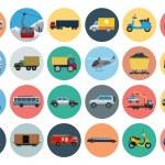 Постер, плакат: Flat Transport Icons 3