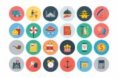 Attention please! get ready for holidays and travelling Here is travel vector icons that you can use in your next travel and holidays project