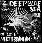 Állati tengeri póló grafika