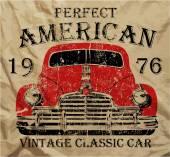 Alte amerikanische Autos Vintage Classic Retro Mann T Shirt Graphic Design