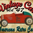 Постер, плакат: Vintage race car for printing vector old school race poster retr