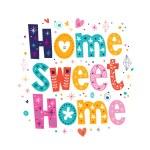 Постер, плакат: Home sweet home card