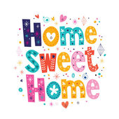 Home sweet home typography lettering decorative text Vector illustration