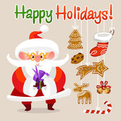 Karácsonyi Santa Claus rajzfilmfigura