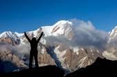 Alpine Climber Reached Summit