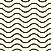 Vector seamless geometric pattern background for decoration wallpaper web page surface textures and print Minimalistic black lines and waves beige backdrop