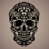 The ornamental art of a skull possible for use as a tattoo Vector image
