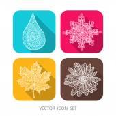 Four seasons icons.
