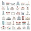 Постер, плакат: Flat Icons Buildings