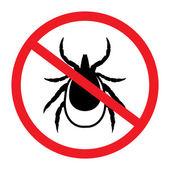 Warning tick sign