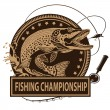 Постер, плакат: PIKE FISH FISHING CHAMPIONSHIP 1