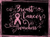 Breast Cancer Awareness, inspirational sign.