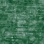 Vektorové bezešvé vzor s skutečný rukou psaný text v latince na zelené chalk Rady