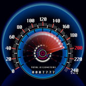 Roaring Fast Dashboard Speedometer Clock Illustration