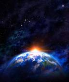 Východ slunce nad zemi