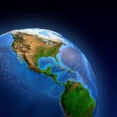 Planeta Země reliéfu