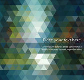 Abstract banners collection colored backgrounds of triangles