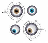 Cyborg eyes vector  illustration