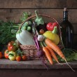 Постер, плакат: Basket with vegetables