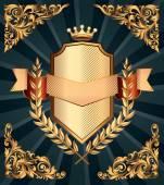 Retro-verzieren-Wappen