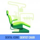 Vektorové plochá zubní ikona. Zubní křeslo