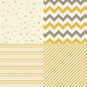 Collection of isolated patterns: polka dot golden
