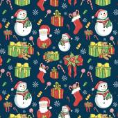 Set of colorful Merry Christmas sketches vector illustrations