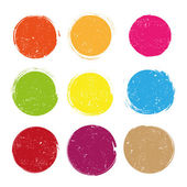 Grunge circles vector on white background