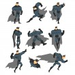 Постер, плакат: Superhero Actions Set