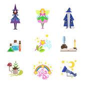Pohádkové postavy a vztahující se k nim objektů